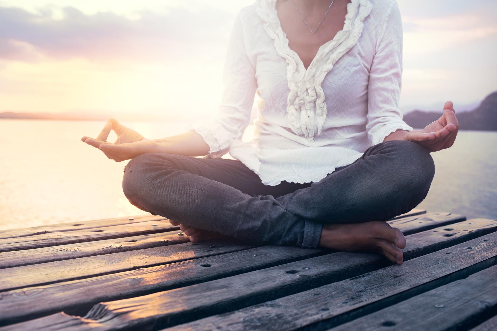Stressmanagement Yoga-Position