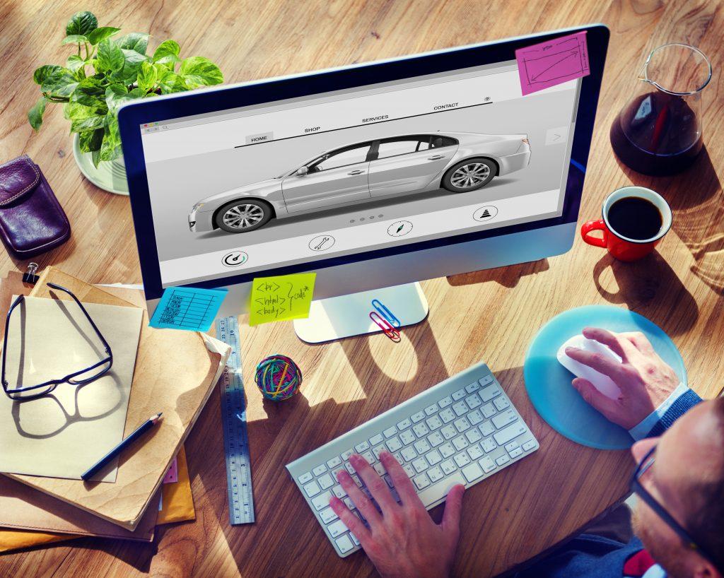 Fahrzeugbeklebung Design am Computer