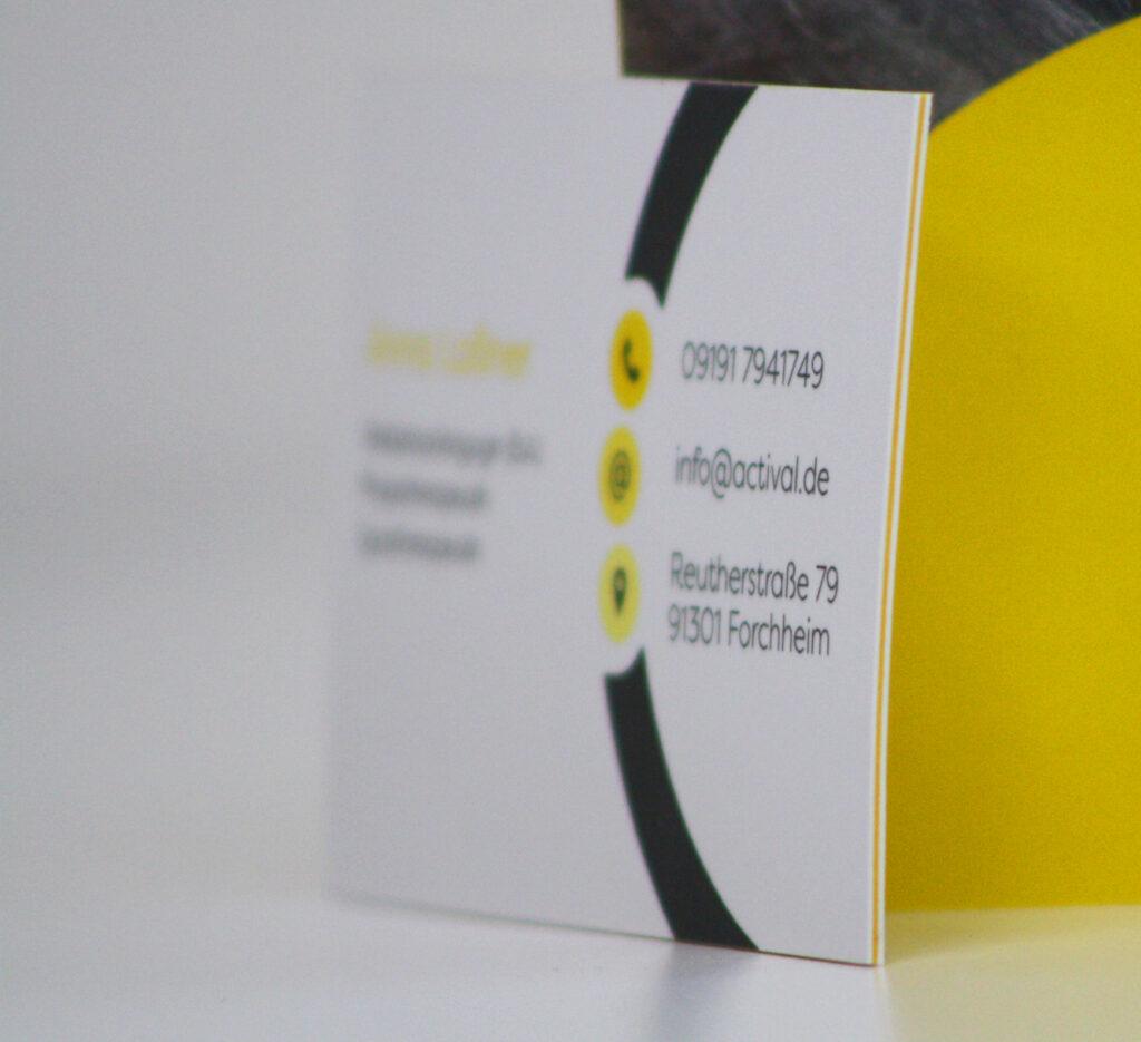 activAL Visitenkarten mit Farbkern Rückseite